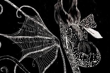 Detalj fra «Saltvannsblomst #4 Adrienne Rich»