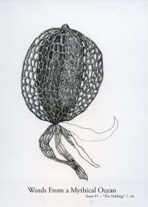 Forsiden til boken «Words from a mythical ocean»